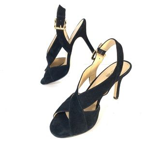 Michael Kors Black Suede High Heels Sz 7.5